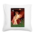Angel / Lhasa Apso #9 Square Canvas Pillow