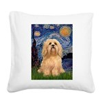 Starry / Lhasa Apso #9 Square Canvas Pillow
