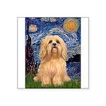 Starry / Lhasa Apso #9 Square Sticker 3