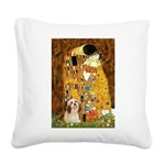 Kiss / Lhasa Apso #4 Square Canvas Pillow