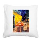 Cafe / Lhasa Apso #9 Square Canvas Pillow