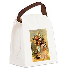 Vase / Lhasa Apso #9 Canvas Lunch Bag
