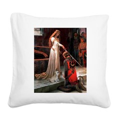 The Accolade & Lhasa Apso Square Canvas Pillow