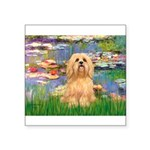 Lilies / Lhasa Apso #9 Square Sticker 3