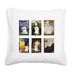 Maltese Famous Art (clr) Square Canvas Pillow