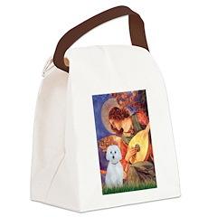Mandolin Angel / Maltese (B) Canvas Lunch Bag