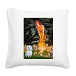 MidEve / Maltese Square Canvas Pillow