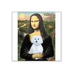 Mona Lisa / Maltese (B) Square Sticker 3