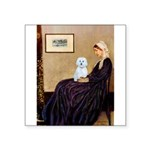 Whistlers Mom / Maltese (B) Square Sticker 3""