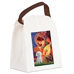 Mandolin Angel & Maltese Canvas Lunch Bag
