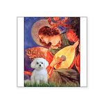 Mandolin Angel & Maltese Square Sticker 3