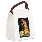 Fairies & Maltese Canvas Lunch Bag
