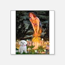 """Fairies & Maltese Square Sticker 3"""" x 3"""""""