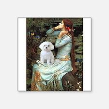 "Ophelia's Maltese Square Sticker 3"" x 3"""