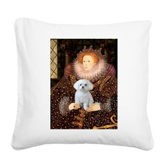 The Queen's Maltese Square Canvas Pillow