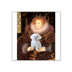 The Queen's Maltese Square Sticker 3