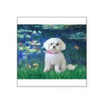 Lilies / Maltese Square Sticker 3