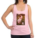 Windflowers / Maltese Racerback Tank Top