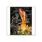 Fairies & Newfoundland Square Sticker 3