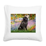 Garden / Newfoundland Square Canvas Pillow
