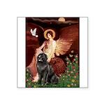 Angel & Newfoundland Square Sticker 3