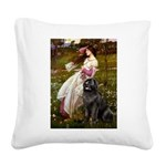 Windflowers / Newfoundland Square Canvas Pillow