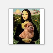 """Mona / Norfolk Terrier Square Sticker 3"""" x 3"""""""