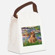 Lilies /Norfolk Terrier Canvas Lunch Bag