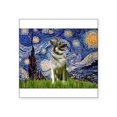 Starry / Nor Elkhound Square Sticker 3