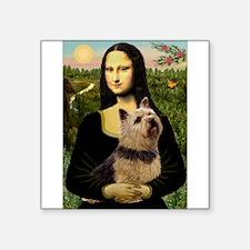 """Mona / Norwich Terrier Square Sticker 3"""" x 3"""""""