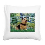 Bridge / Norwich Terrier Square Canvas Pillow