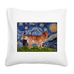Starry / Nova Scotia Square Canvas Pillow