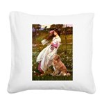 Wind Flowers & Nova Scotia Square Canvas Pillow