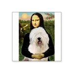 Mona's Old English Sheepdog Square Sticker 3