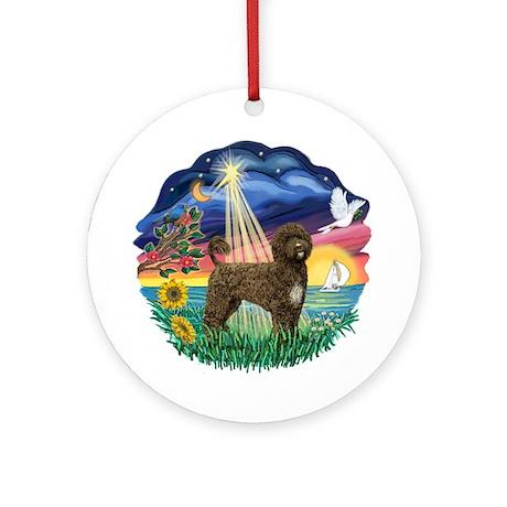 Star Wish - Brown Portie (PWD) Ornament (Round)