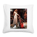 Princess & Papillon Square Canvas Pillow