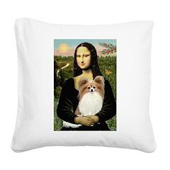 Mona's Papillon Square Canvas Pillow