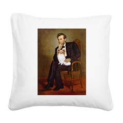 Lincoln's Papillon Square Canvas Pillow