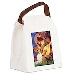 Mandolin Angel & Papillon Canvas Lunch Bag