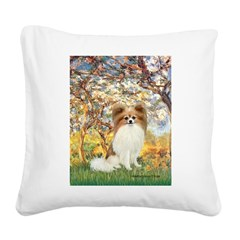 Spring / Papillon Square Canvas Pillow