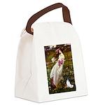 Windflowers & Papillon Canvas Lunch Bag