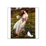 Windflowers & Papillon Square Sticker 3