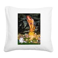 Fairies / Papillon (f) Square Canvas Pillow