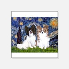 """Starry / 2 Papillons Square Sticker 3"""" x 3"""""""