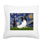 Starry Night Papillon Square Canvas Pillow