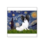 Starry Night Papillon Square Sticker 3