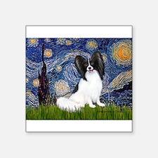 "Starry Night Papillon Square Sticker 3"" x 3"""