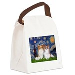 Starry Night & Papillon Canvas Lunch Bag