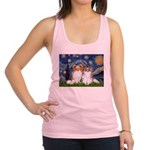 Starry Night & Papillon Racerback Tank Top