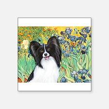 "Irises & Papillon Square Sticker 3"" x 3"""